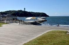 江の島花火大会203の穴場観覧スポット片瀬西浜のイルキャンティ前