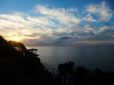 湘南江ノ島の初日の出オススメスポットサムエル・コッキング苑前の亀ヶ岡広場