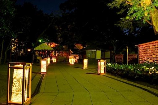 江の島灯籠2014ライトアップ江島神社の辺津宮