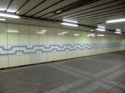 藤沢駅南口から名店ビルや市役所方面への地下道