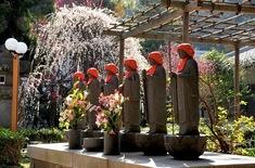藤沢の梅花チェック常立寺の六地蔵
