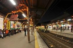 江ノ電駅イルミネーション・ライトアップ長谷駅