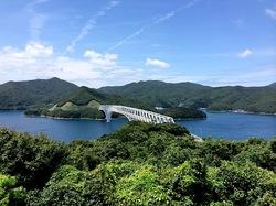 湘南藤沢から五島列島へ若松島の潮の香薫る公園からの若松大橋