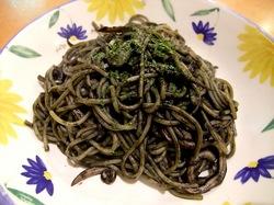 イタリアンファミリーレストランサイゼリヤ@藤沢善行のイカ墨入りスパゲティ