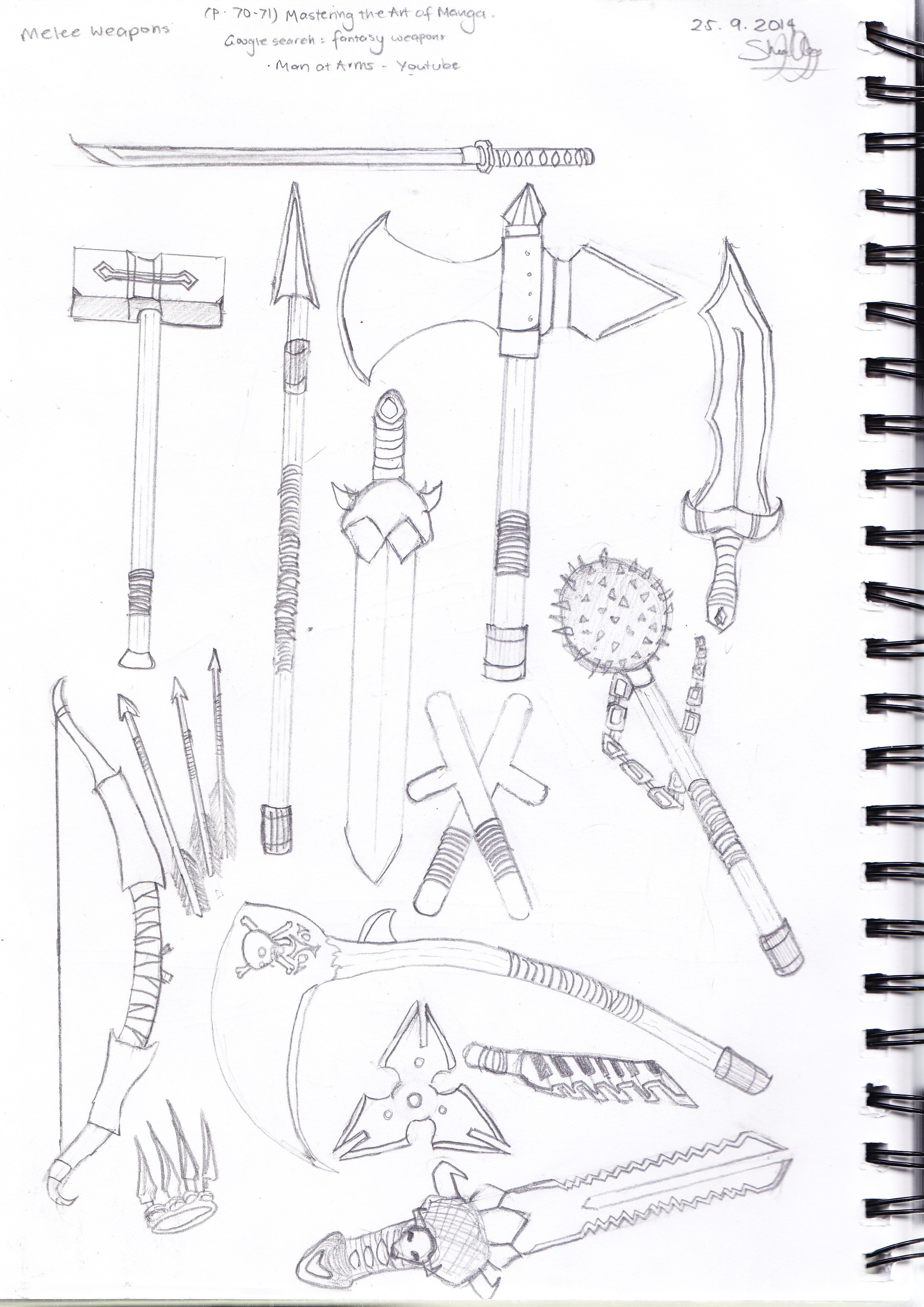 Melee Weapon Inspirations (Creative Project Research