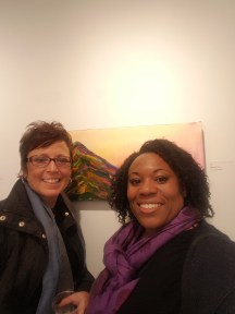 Me and Lori Todd at Cre8ery. I found one of my faves!