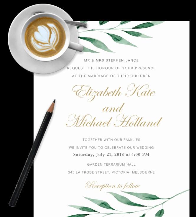 Wedding Invitation Template Word Beautiful Diy
