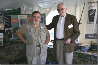 Jack Rowe, right, with the late gunmaker Alfred Gallifent at the 2004 Vintage Cup. (Photo by James Flynn.)
