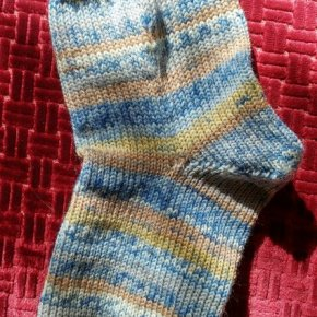 Wool socks by Laura of Shooting Star Gallery.