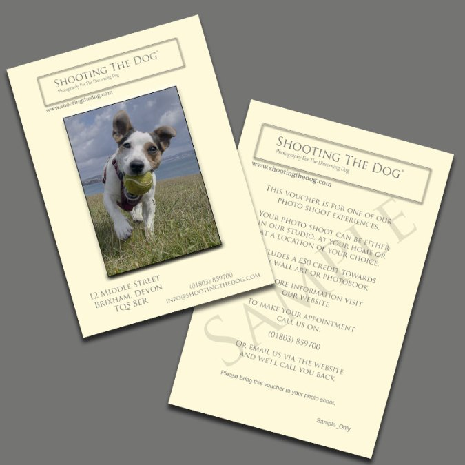 Pet Photography Gift Vouchers
