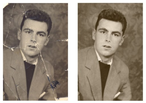 Example of a photo restoration