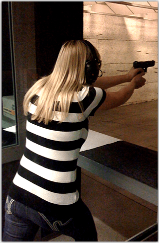 lady shooting