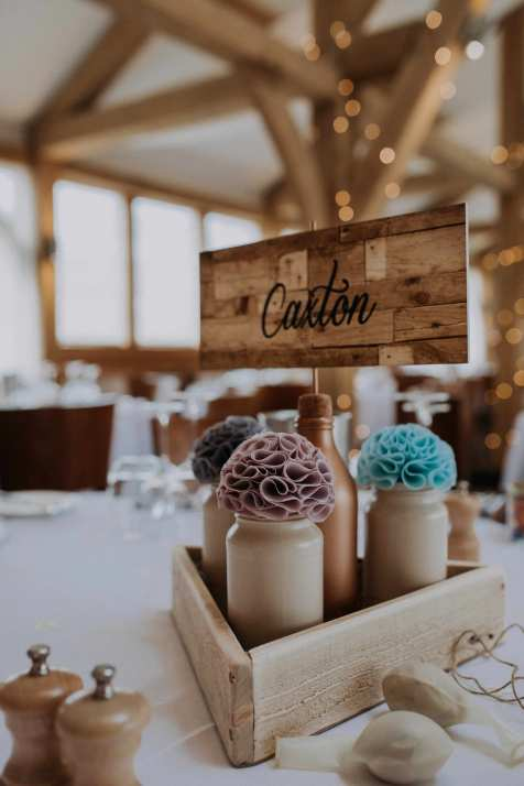 Handmade fabric table decorations