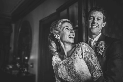 Rose & Matt's Leicestershire Home Wedding the bride and groom portraits
