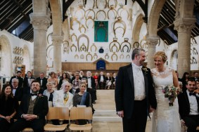 Wedding ceremony at Oakham Castle