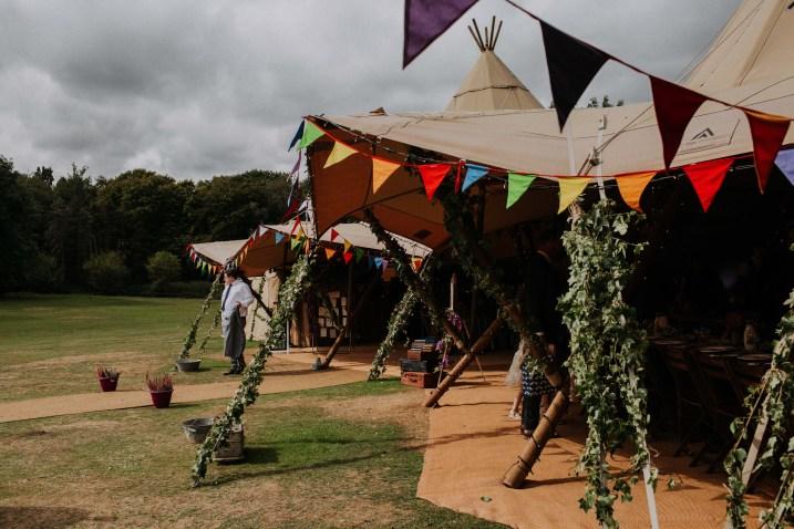tipi festival wedding photography