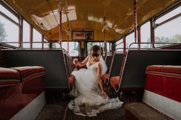 bride on a bus