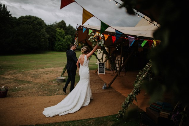 fun outdoor tipi festival wedding
