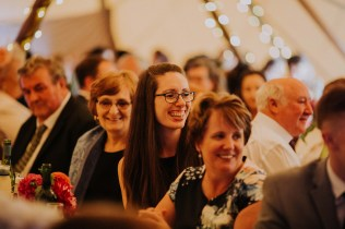 laughs all round during the wedding speeches