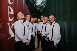 wedding photos with shipping containers