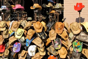 Hats galore, all colors. Venice Beach, CA.