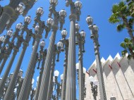 """Urban Lighting"" installation, by Chris Burden, at LACMA, Los Angeles"