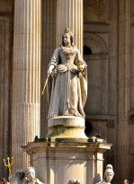 Queen Anne statue at St. Paul's, cathedral, London