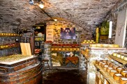 Underground room used for cheese stocking. Greve in Chianti, Italy.