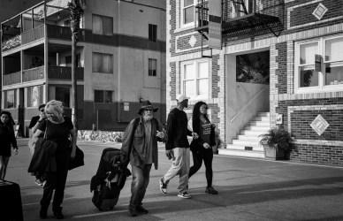 Homeless among visitors.