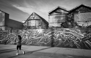Street art along the Boardwalk.