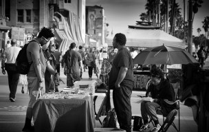 Vendors and buyers.
