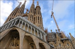 The Passion Facade, on the west side, is dedicated to the suffering and death of Christ, and is nearly complete. It is decorated with sculptures by Josep Maria Subirach.