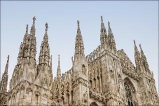 Duomo di Milano. Detail of top exterior.