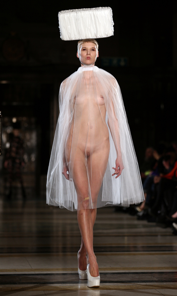 6 Naked Model Walks Runway