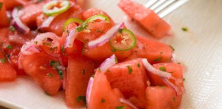 Spicy Watermelon Salad