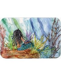 Caroline s Treasures Caroline s Treasures 8974CMT Black Haired Mermaid Water Fantasy Kitchen or Bath Mat 20 H x 30 W Multicolor from Amazon SheFinds
