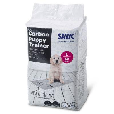 tapis absorbants savic puppy trainer avec charbon actif pour chiot