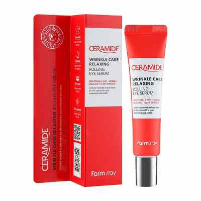 FARMSTAY Ceramide Wrinkle Care Relaxing Rolling Eye Serum (25ml)