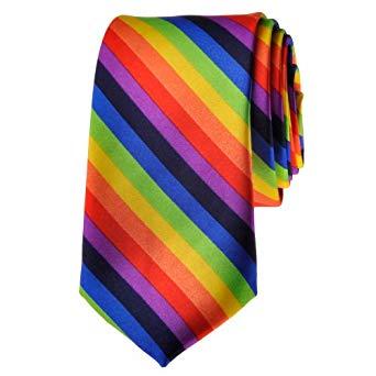 Rainbow Striped Tie