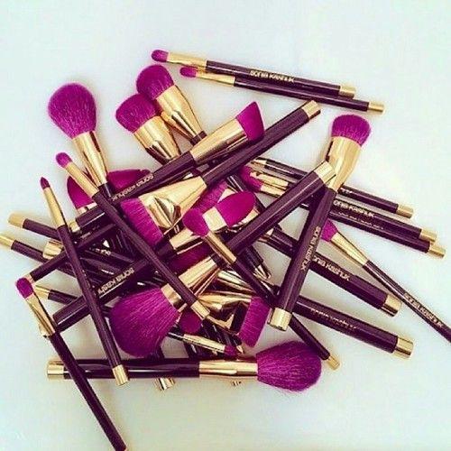 purple brushes
