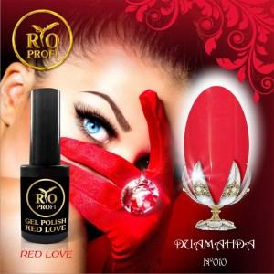 Каучуковый гель лак Red Love 3,5 мл №10 Диаманда