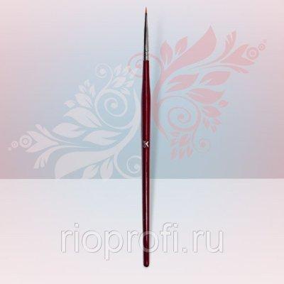Кисть для дизайна тонкая улучшенное качество дер.ручка