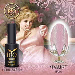 Каучуковый гель-лак Rio Profi серия Nude Shine №4 Флирт, 7мл