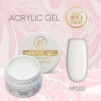 Rio Profi Acrylic Gel в тубе 15 мл, белый №2