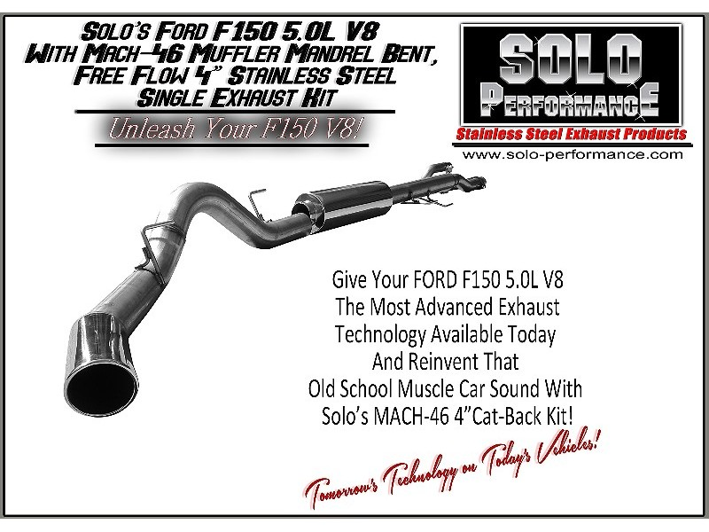 2011 2014 mach 46 single 4 cat back exhaust system ford f150 v6 ecoboost