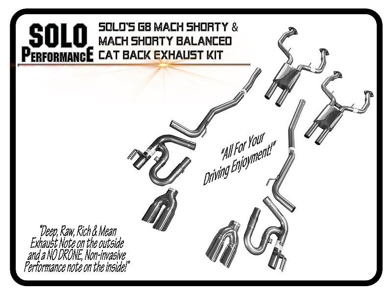 2008-2009 G8 Mach Shorty Balanced CAT Back Pontiac G8