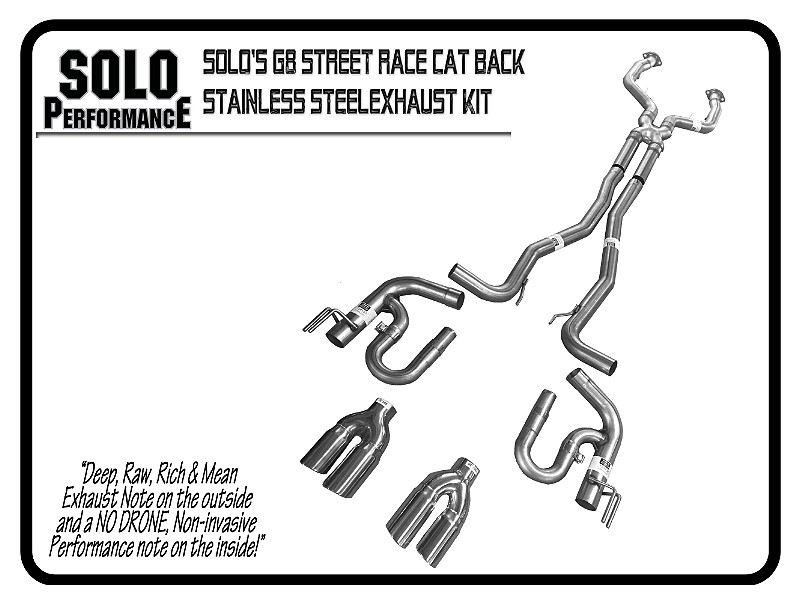"2008-2009 G8 Street Race 2½"" Cat Back Exhaust Kit Pontiac G8"
