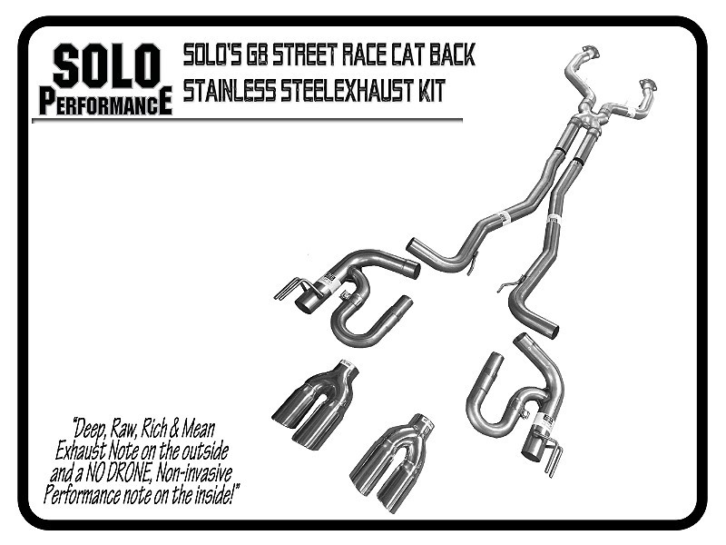 "2008-2009 G8 Street Race 3"" Cat Back Exhaust Kit Pontiac G8"