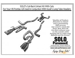 """V8 Pontiac G8, 3"""" Solo Kit's With Built in Converters"""