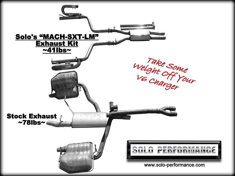 2011-2014 MACH-SXT-LM Cat Back Exhaust System V6 Charger